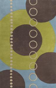 Forum Area Rug - Lime/Slate 5' x 8'