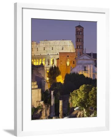 Forum Romanum, Coliseum, Rome, Lazio, Italy-Rainer Mirau-Framed Photographic Print
