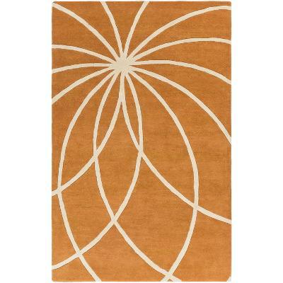 Forum Starburst Area Rug - Burnt Orange/Cream 5' x 8'--Home Accessories