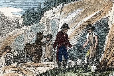 Fossil Hunting in Cherry Hinton Chalk Pit, Cambridgeshire, 1822--Giclee Print