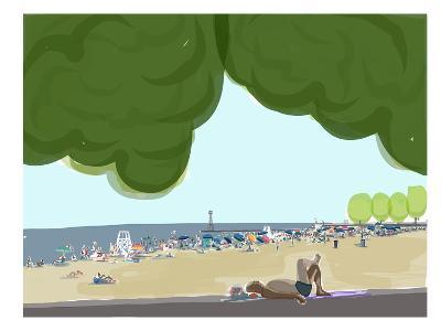 Foster Beach Trees 2-Marian Nixon-Art Print