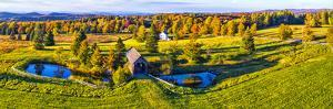 Foster Covered Bridge in fall, Cabot, Washington County, Vermont, USA