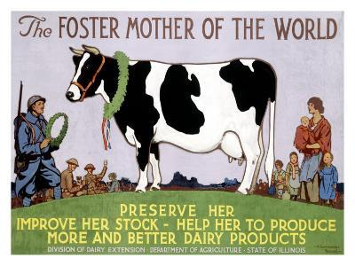 Foster Mother of the World-Richard Fayerweather Babcock-Giclee Print