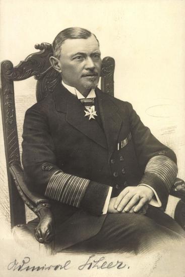 Foto Admiral Reinhard Scheer, Skagerrschlacht--Giclee Print
