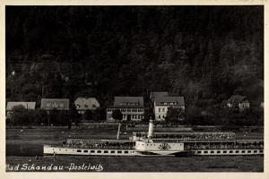 Foto Bad Schandau Postelwitz, Dampfer Leipzig, Elbe