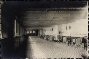 Foto Dampfschiff Cleveland, Hapag, Promenadendeck