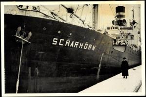 Foto Dampfschiff Scharhörn Vor Anker Aus Der Nähe