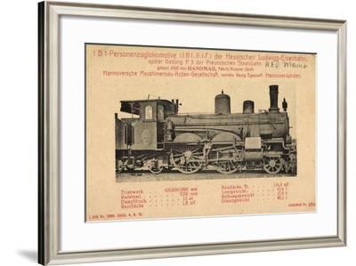 Foto Deutsche Dampflok Hanomag P3 1761 Preußen--Framed Giclee Print