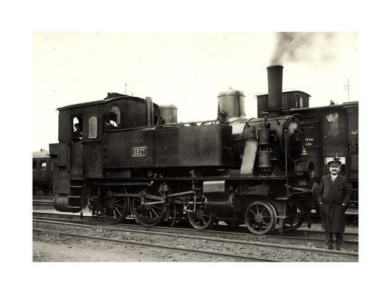 Foto Deutsche Dampflok Nr. 6501, KraUSS 6202, 1909--Giclee Print