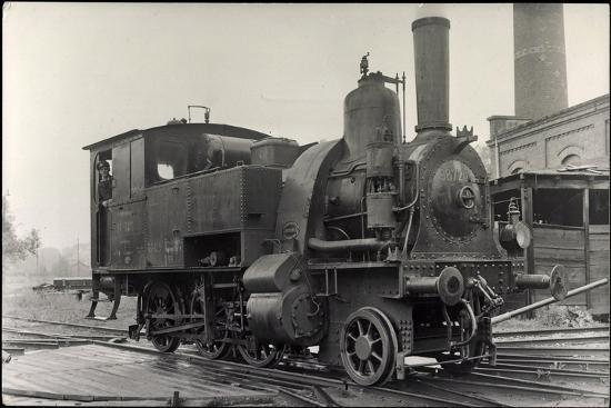Foto Deutsche Dampflok Nr. 98 7201--Giclee Print