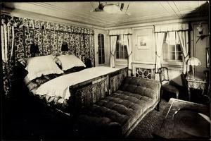 Foto Hapag, Dampfer New York, Luxus Kabine