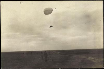 Foto Pferd an Einem Fallschirm, Absprung, Soldaten, Feld, F.L.A. 98--Giclee Print