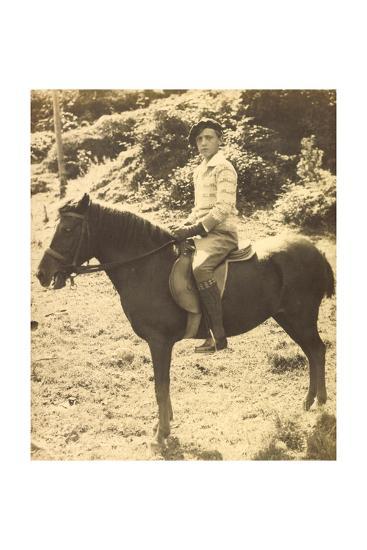 Foto Prinz Robert Von Österreich, Bruder Von Otto Von Habsburg, Pferd--Giclee Print