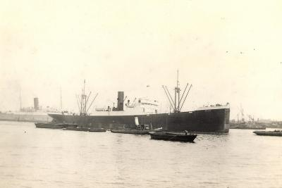 Foto Steamer Ariano at Port Surrounded by Boats--Giclee Print