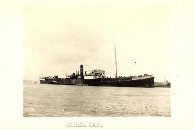Foto View of Steamer Athelfoam Near a City--Giclee Print