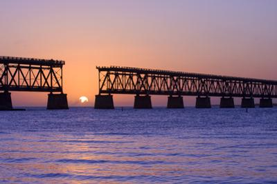 Sunset at Bahia Honda State Park in Florida by Fotomak