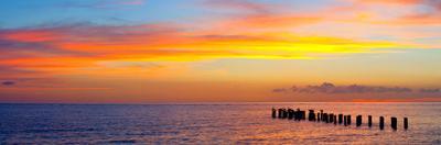 Sunset or Sunrise Landscape Panorama of Beautiful Nature Beach by Fotomak