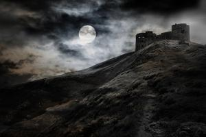 Night, Moon And Dark Fortress by fotosutra.com