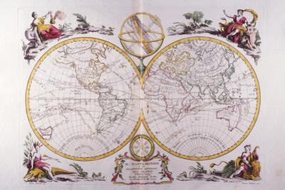 Map of the World by Fototeca Gilardi