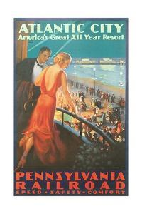 Atlantic City Travel Poster by Found Image Press