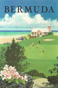 Bermuda Travel Poster by Found Image Press