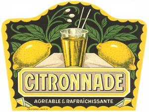 Citronnade Lemon Drink Label by Found Image Press