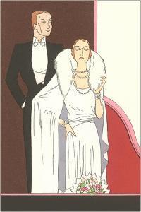 Illustration of Elegant Twenties Couple by Found Image Press