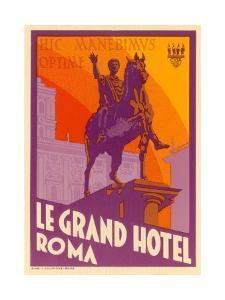 Le Grand Hotel, Roma by Found Image Press