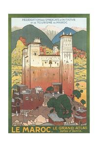 Morocco Travel Poster by Found Image Press