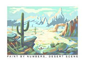 Paint by Numbers, Desert Scene by Found Image Press