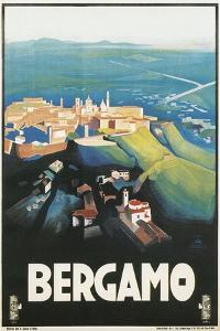 Travel Poster for Bergamo, Italy by Found Image Press