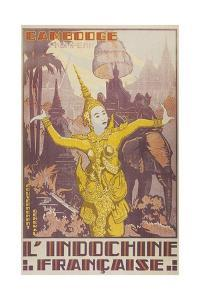 Travel Poster for Cambodia by Found Image Press
