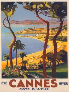 Travel Poster For Cannes by Found Image Press