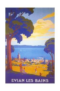 Travel Poster for Evian Les Bains by Found Image Press
