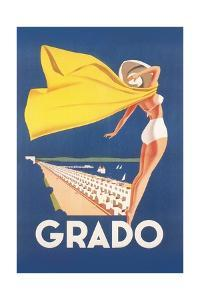 Travel Poster for Grado by Found Image Press