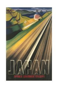 Travel Poster for Japanese Railways by Found Image Press