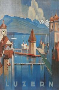Travel Poster for Lucerne, Switzerland by Found Image Press