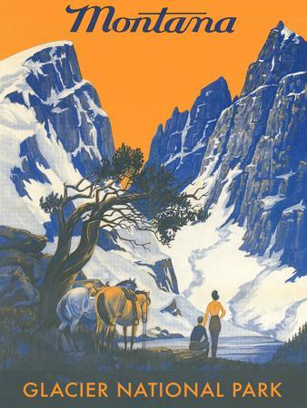 Travel Poster For Montana