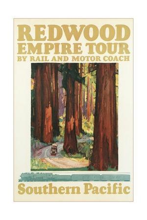 Travel Poster for the Redwood Empire