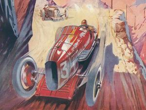 Vintage Racing Car by Found Image Press