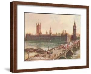 Westminster Bridge Parliament London by Found Image Press