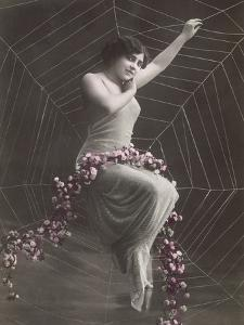 Woman In Spider Web by Found Image Press