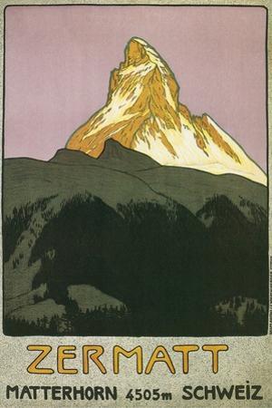 Zermatt, Matterhorn, Switzerland by Found Image Press