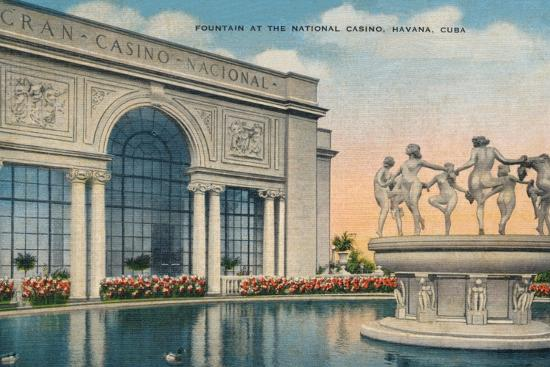 'Fountain at the National Casino, Havana, Cuba', c1910-Unknown-Photographic Print