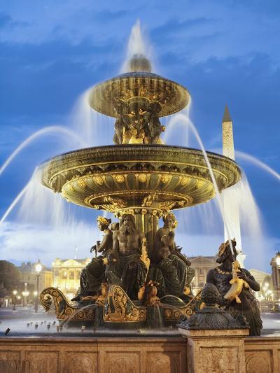 Fountain at The Place de la Concorde-Rudy Sulgan-Photographic Print