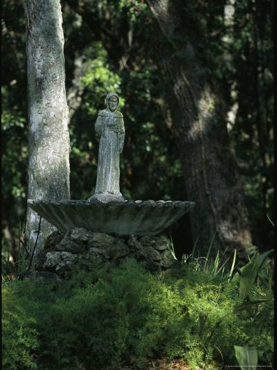 Fountain Bird Bath on the Saint George Episcopal Church Grounds-Raymond Gehman-Photographic Print