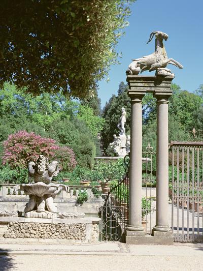 Fountain, Boboli Gardens, Florence--Photographic Print