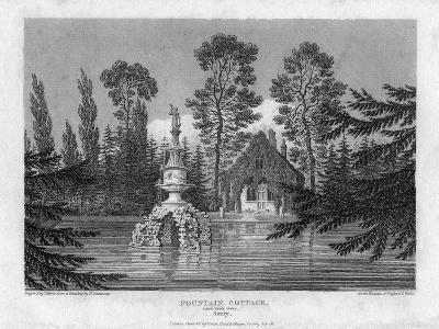 Fountain Cottage, Camberwell Grove, Surrey, 19th Century-J Storer-Giclee Print