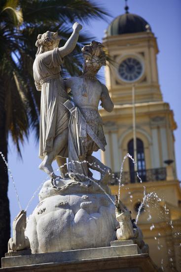 Fountain Dedicated to Simon Bolivar in Santiago-Jon Hicks-Photographic Print