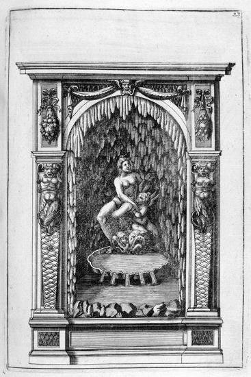 Fountain, Grotto Design, 1664-Georg Andreas Bockler-Giclee Print